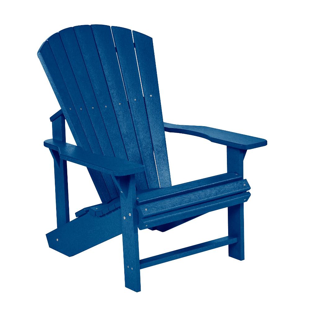 Blå Adirondack däckstol