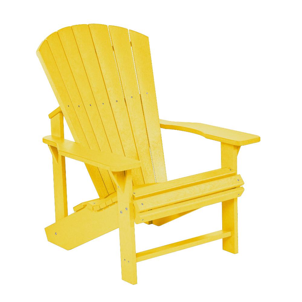 Däckstol Adirondack gul utemöbel av återvunnen plast