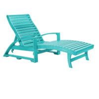 Solstol med dolda hjul av underhållsfritt hållbart material