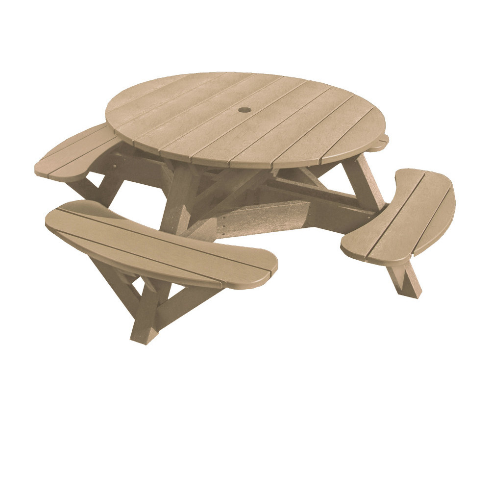 Runt Picknickbord